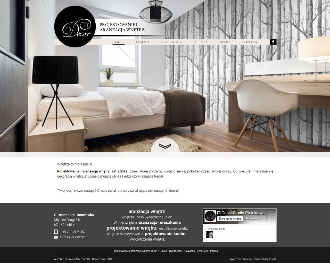 Strona www dla projektanta wnętrz