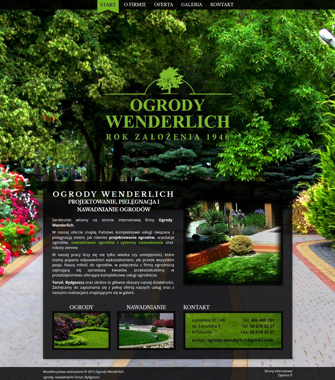 Strona internetowa dla firmy ogrodniczej - projektowanie, pielęgnacja i nawadnianie ogrodów