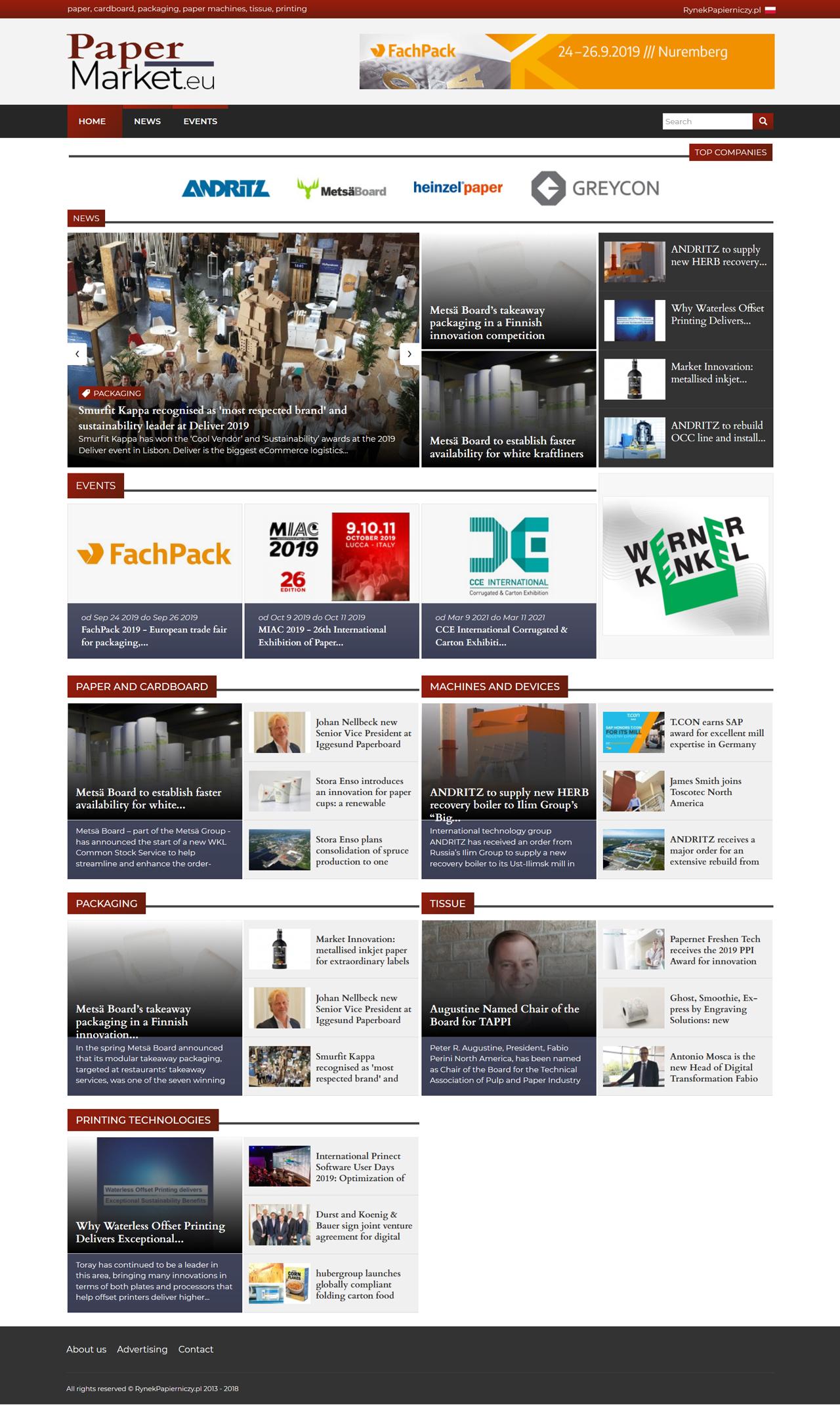 Portal branżowy - Paper Market