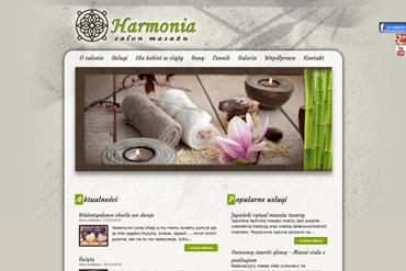 Strona www - salon masażu Harmonia