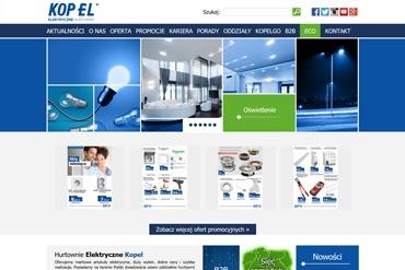 Strona www dla Hurtowni Elektrycznej Kopel