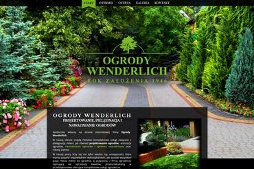 Strona internetowa dla firmy Ogrody Wenderlich