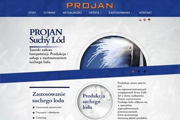 Strona www dla firmy produkcyjnej Projan
