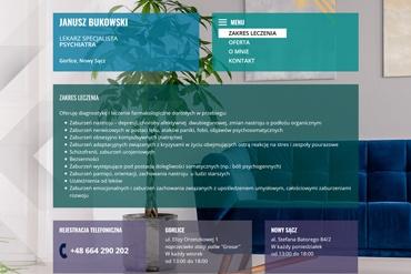 Strona www dla lekarza specjalisty psychiatry