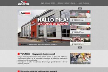 Strona www dla salonu meblowego oraz fabryki mebli VIWA MEBEL